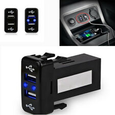 2.1A Car Dual USB 2 Port Fast Charger for Smart Phone iPad Electrical for Toyota