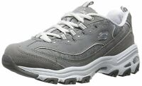 Skechers Womens D'Lites Low Top Lace Up Running Sneaker, Grey, Size 9.0 0R0N