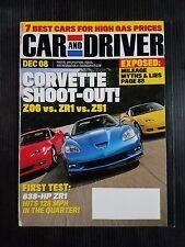Car & Driver Dec 2008 Corvette Z06 vs ZR1 vs Z51 - Bugatti Veyron  Mazda RX-8 R3