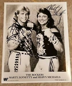 Shawn Michaels & Marty Jannetty dual SIGNED Reprint Promo Wrestling WWE WWF WCW