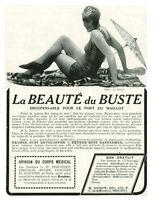 Publicités ancienne la beauté du buste 1930 issue de magazine