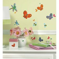 58 New BUTTERFLIES DRAGONFLIES BUMBLEBEES LADYBUGS WALL DECALS Bathroom Stickers