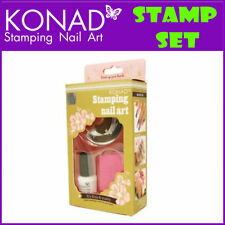 Konad Stamp Set for Stamping Nail Art Designs Stamper Scraper 5ml Polish & Plate