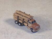 Z Scale 1955 B Model Mack Weathered Logging Truck