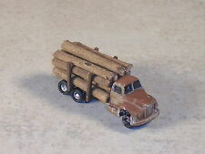 Z Scale 1953 B Model Mack Weathered Logging Truck, #a