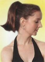 """10"""" Long Straight Hair Ponytail Hairpiece on Claw Clip"""