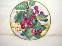 Italy Villa D'este Cherry Hand painted China Fruit Plate