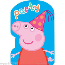 PEPPA PIG INVITATIONS (8) ~ Birthday Party Supplies Stationery Cards Notes Nick