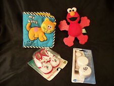 Lot infant Christmas baby shoes Elmo doll My Kitty cat book blinds wind up cords