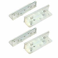 150mmx42mmx36mm Screw Fixed Bed Hinge Rail Brackets Connecting Fittings 4pcs