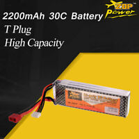 ZOP Power 11.1V 2200mAh 30C 3S Lipo Battery T Plug For RC Racing Drone Car