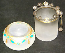 Frosted Glass Tealight Candle Holders LSA International Poland Ornament Gift x 2