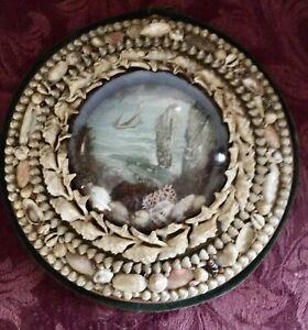 VICTORIAN SHELL ART DIORAMA SAILOR's VALENTINE MARITIME