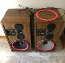 2 VINTAGE CERWIN -VEGA IMPEDANCE D-9 FLOOR STANDING SPEAKERS AWESOME