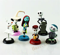 6pcs Nightmare Before Christmas Jack Skellington Action Figure Model Toy No Box