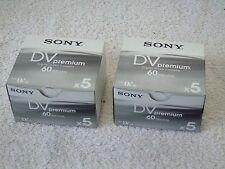 10 Brand New Sony Mini DV ME Premium 60min SP & 90min LP Digital Video Cassettes