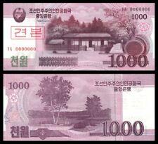Korea Banknote Specimen 1000 Won 2008 (UNC) 全新 朝鲜 1000元样钞 号码全为0