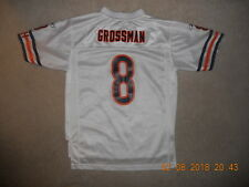 Chicago Bears Nfl Football Jersey #8 Rex Grossman Reebok Youth Large White Euc