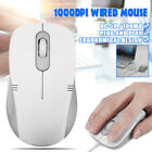 OFFICE WHITE USB WIRED OPTICAL MOUSE MICE 1000DPI FOR PC Laptop Computers