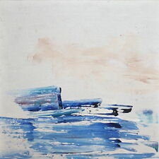 Abstract seascape oil painting signed