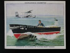 No.35 COXSWAIN IN CHARGE OF FLYING BOAT The R.A.F. at Work RAF Churchman 1937