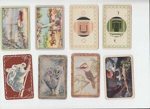 GA154 Vintage Swap Cards mix batch  koala kookaburra drovers beachside