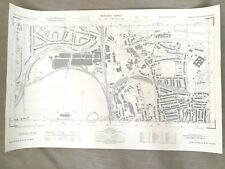 1960 Vintage Map of Surrey Guildford Town National Grid Planning Maps
