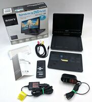Sony DVP-FX930 9-Inch Portable CD/DVD Player Black w/ Accessories - AS-IS READ