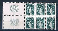A0356 - TIMBRE DE FRANCE - N° 1964 Neuf** Papier épais en Bloc de 6