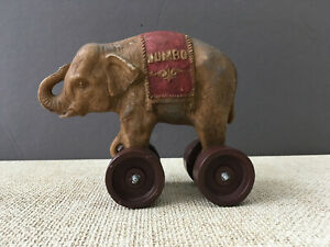 Vintage Jumbo The Elephant pull toy Dumbo