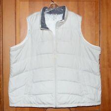 Lands' End Woman Plus Down Vest White 3X ( 24W-26W )