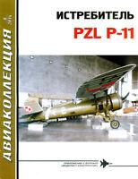 AKL-201408 AviaCollection 2014/8 PZL P-11 Polish WW2 Fighter