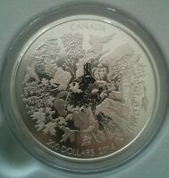 $200 Silver Coin, Towering Forest Canada 2014, 2 Oz Ag, Matte Proof, Free S&H