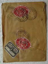 December 4, 1941 Mexico Envelope with Registered Stamps and USA Sealed Stamp