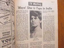 October 1, 1968 Democrat/Chronicle TV Tab(SAJID  KHAN/MAYA/RAYMOND BURR/IRONSIDE