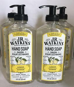 J.R. Watkins Natural Home Care Hand Soap - Lemon - 11 Oz- Case of 4