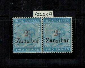 Zanzibar 1898 2 1/2 Type 3 on 2a Dull Blue MOG VF RPSL Cert SG 29D,29DJ CV L1680