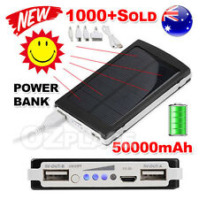 50000mAh Portable External Battery Charger Solar Power Bank for Samsung Iphone 6