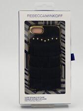 Rebecca Minkoff-Luxe Double Up Designer Iphone 7 Case Black Leather Fringe