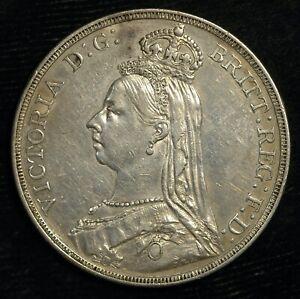 Crown 1887 Victoria Jubilee Head .925 Silver VF (T110)