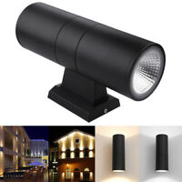 Modern 6W Up Down Exterior Wall Light Sconce IP65 Outdoor Dual Head LED COB Lamp