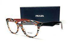 PRADA VPR 11R VAN-1O1 Grey Orange Demo Lens Women's Eyeglasses 50mm