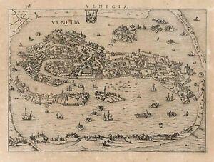 Stampa antica originale Venegia - Venezia Veneto Italy