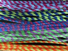 10 x Stripey Pipe Cleaners / Chenille Stems - Chunky & 30cm Long