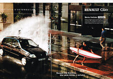 PUBLICITE ADVERTISING 045  2001  RENAULT  CLIO EXTREME  ( 2 pages)