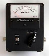 RF Power meter, 1.8-52MHz, 3 ranges, 10W, 100W & 500W ranges, made in Dorset UK