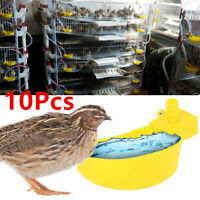 10 Pack Automatic Cups Water Feeder Drinker Chicken Waterer Poultry Chook Bird