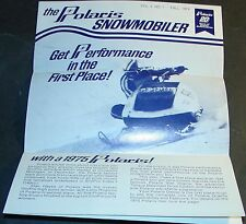 1975 POLARIS STARFIRE NEWSLETTER SNO-PRO FALL 1974 BROCHURE  (504)