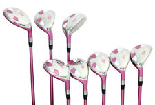 Petite Senior Women's Majek Golf Pink Hybrid Set (4-SW) Lady Flex Utility Clubs