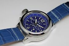 Invicta 18575 Russian Diver Chronograph Blue Sandwich Dial Lefty 52mm Mens Watch